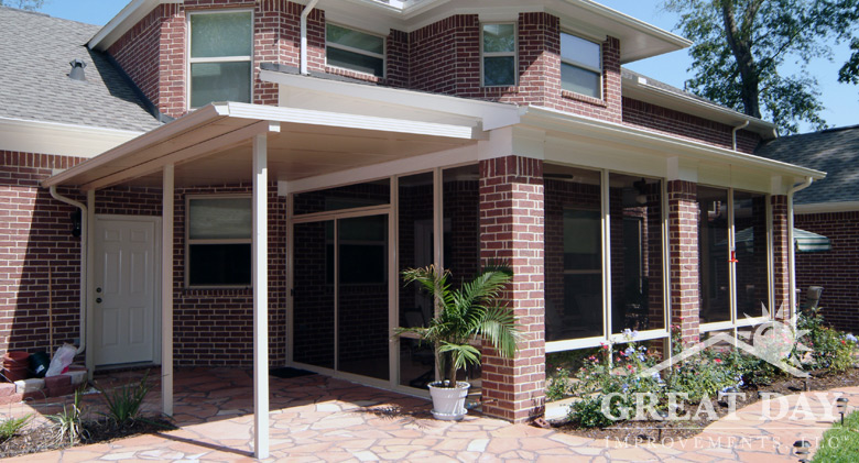 Patio cover designs ideas pictures great day improvements for Cheap patio cover ideas