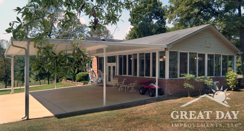 patio cover picture - Driveway Patio Ideas