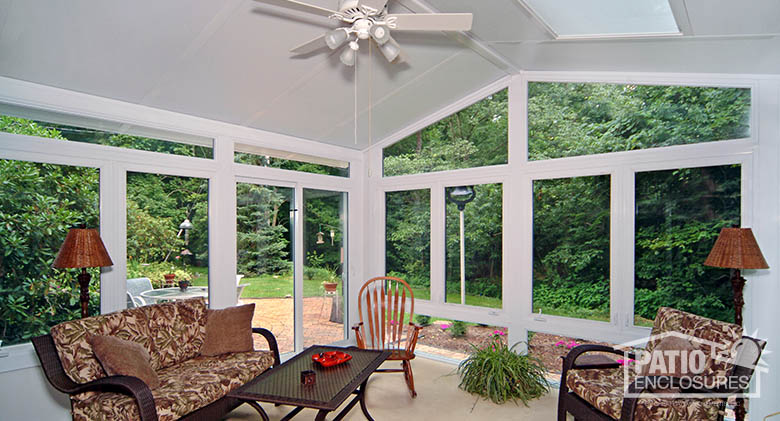 Family Rooms With Attached Enclosed Porch
