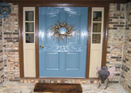 adding curb appeal with a painted door
