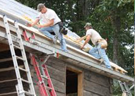 roofers with ladders