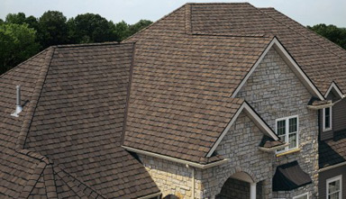 Shingle roof on home