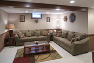 Finished basement using SoftWall Finishing Systems