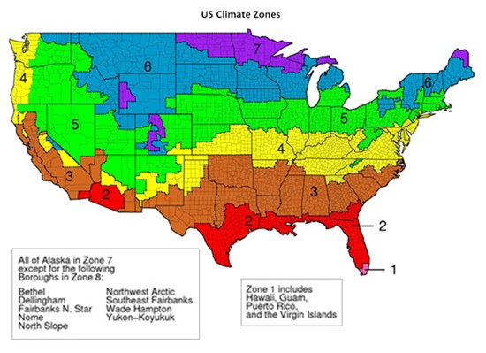 Us Climate Zones Map