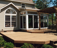 wood deck with pergola - Deck Vs Patio