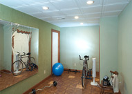 build a home gym in your basement