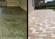 Stamped Concrete vs. Patio Pavers