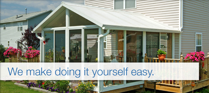 Diy sunroom kits plans for prefab sunrooms great day for Modular sunroom