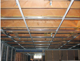 Installation of drop ceiling grid