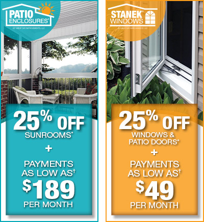Both Offers Expire 10/31/17. Patio Enclosures Offers: